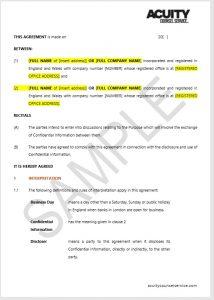 NDA Sample document